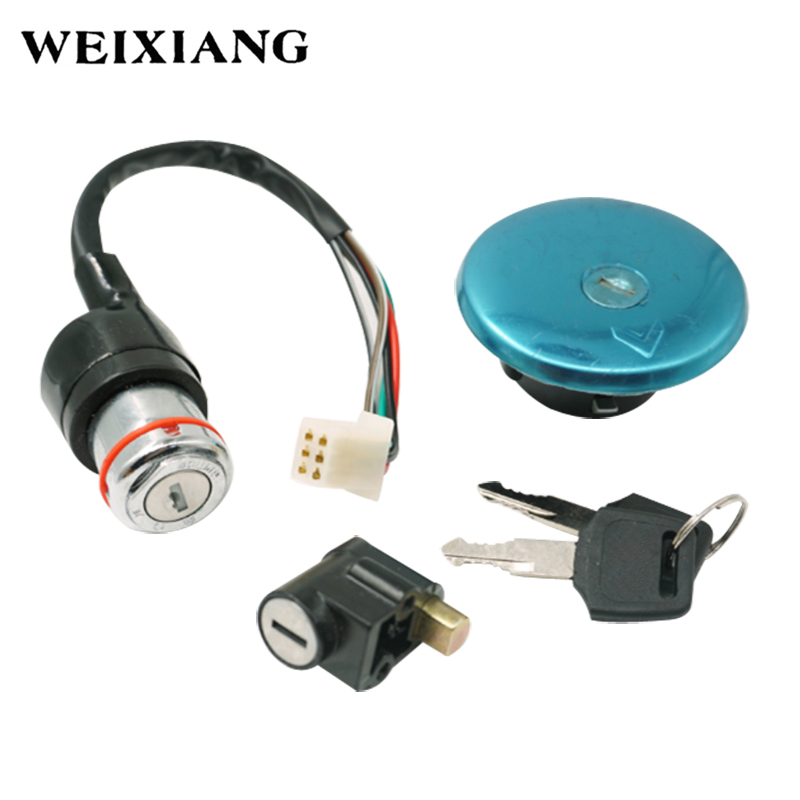 For Suzuki GN125 125cc Motorcycle Ignition Switch Lock Fuel Gas Cap Tank Cover Locking With 2 Keys 1982-2001