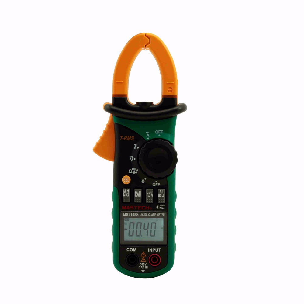 MASTECH MS2108S True RMS Digital AC DC Current Clamp Meter Multimeter Capacitance Frequency Inrush Current Tester VS MS2108 mastech ms2115b true rms digital clamp meter multimeter dc ac voltage current ohm capacitance frequency tester with usb