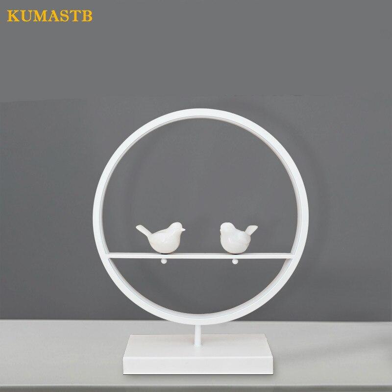 Lampes de Table d'oiseaux blancs modernes lampes de chevet de chambre à coucher étude oeil protection lampe de bureau lumière 18W LED
