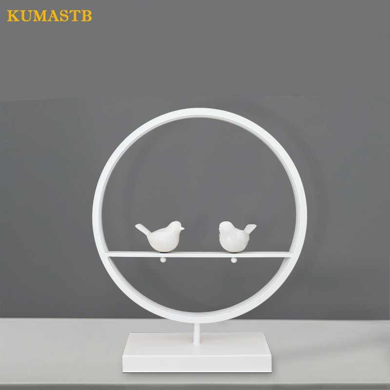 Modern Creative White Birds Table Lamps Bedroom Bedside Table Lamp Study Eye Protecting Desk Light 18W LED Lamparas de mesa novel art solid geometry bedroom bedside table lamps led table lamp 220v desk lights decor eye protection reading light white