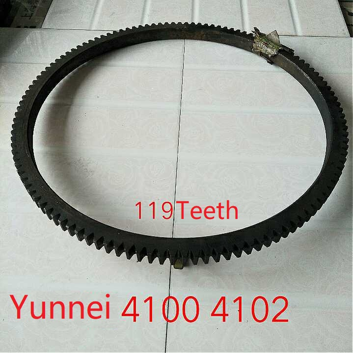 Fast Shipping Yunnei 4100 4102 Flywheels Flywheel 119 teeth diesel engine Flywheel gear ring suit for China brand цены онлайн