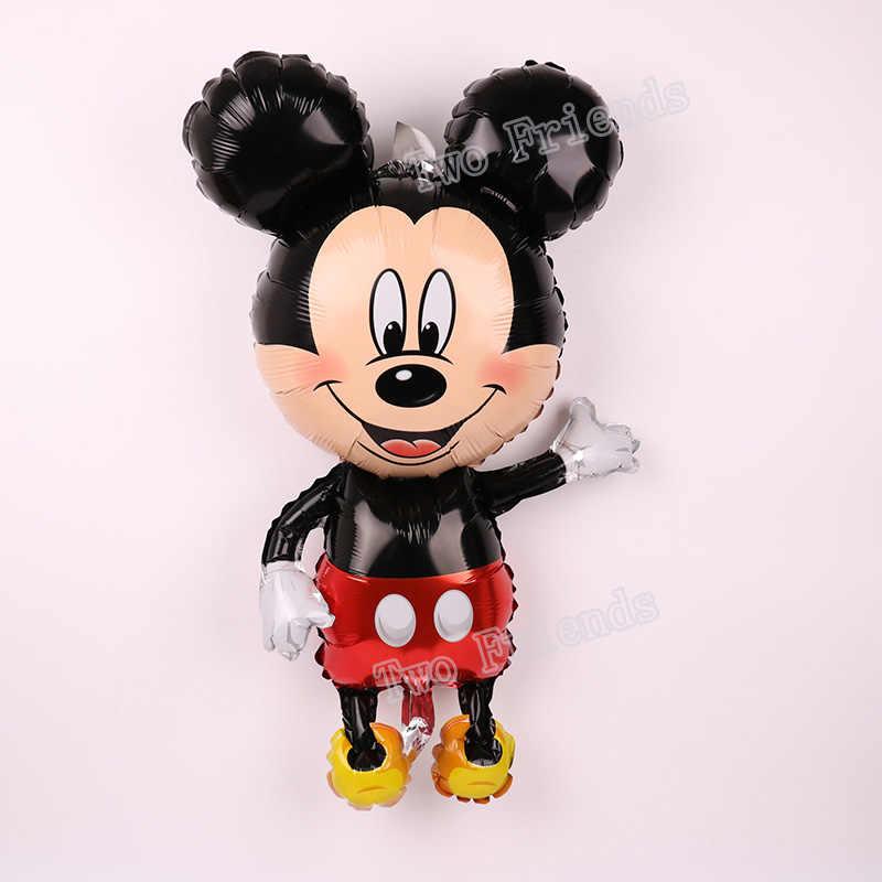 112 centímetros Gigante Mickey Minnie Mouse folha de Balão Dos Desenhos Animados balão decorações Da Festa de Aniversário Dos Miúdos do Partido do chuveiro Do Bebê Brinquedos