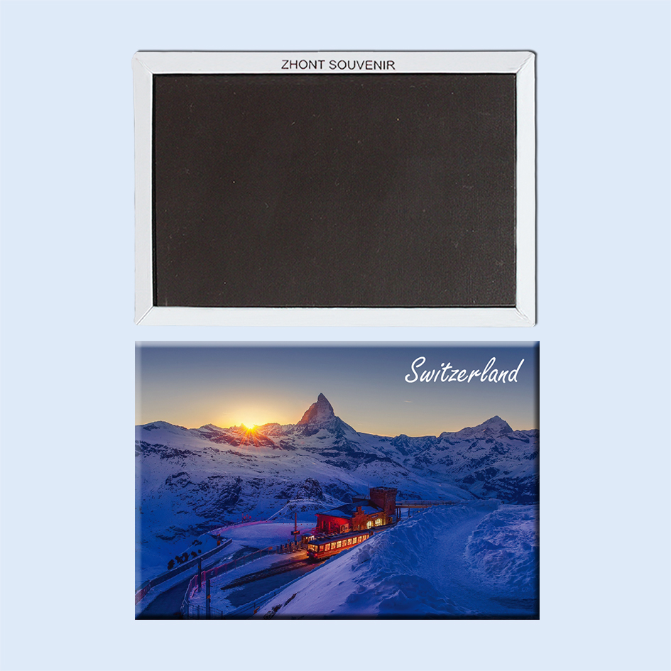 switzerland railway station in switzerland and alps 22726 Souvenirs of Tourist Landscape Magnetic refrigerator gift for friend