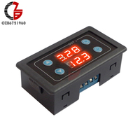 5 v 12 v 24 v 110 v 220 v módulo de relé de tempo digital display duplo tempo atraso relé temporizador interruptor controle alimentação para casa do carro luz led
