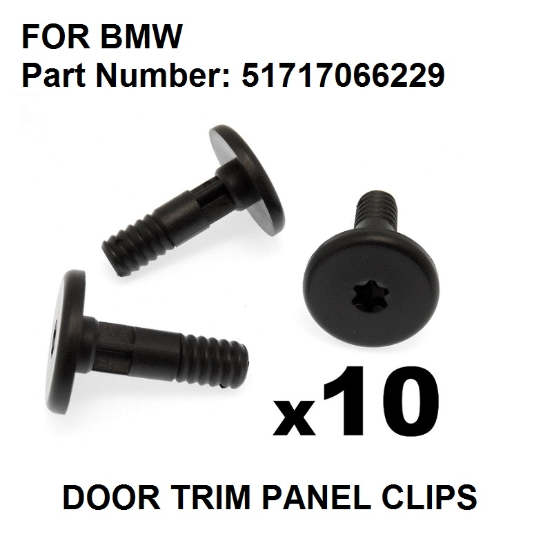 10x FOR BMW Side Skirt & Sill Moulding Trim Plastic Securing Bolt / Pin  Torx Head , oe#51717066229|Auto Fastener & Clip| |  - AliExpress