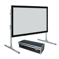 275 16:9 HDTV Format Fast Fold Projector Projection Screen with Rear Projection Material and black velvet drape kits