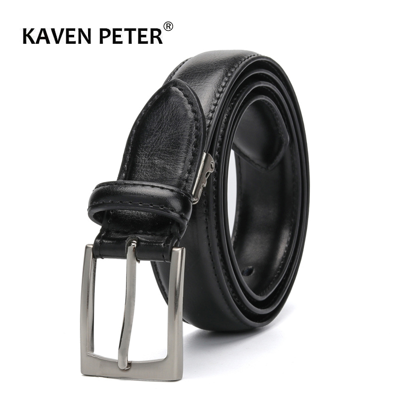 Men's Classic Genuine Leather   Belt   For Jeans Single Prong Buckle Black Dress   Belts   For Women And Men 3.0 CM   Belt   Width Riem
