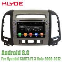KLYDE 7 ''Android 8,0 dvd плеер автомобиля Радио Стерео gps Navi Octa Core 4 ГБ Оперативная память 32 ГБ Встроенная память для hyundai SANTA FE 3 отверстия 2006 2012