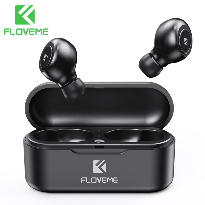 FLOVEME Headphones For Phone TWS 5.0 Mini Bluetooth Earphones Headphones Headset 3D Stereo Sound Earbuds Support Dual Microphone