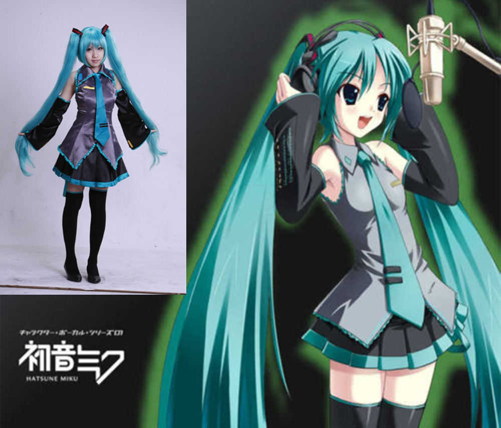 7piece-new-cosplay-font-b-hatsune-b-font-miku-maid-costume-suit-wig-halloween-comic-con-party