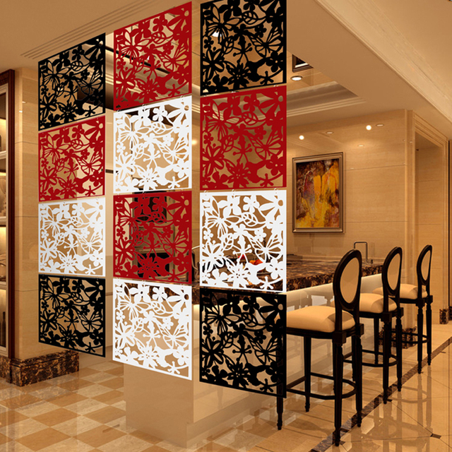 Hanging screen wall stickers grilles film married screen partition entranceway