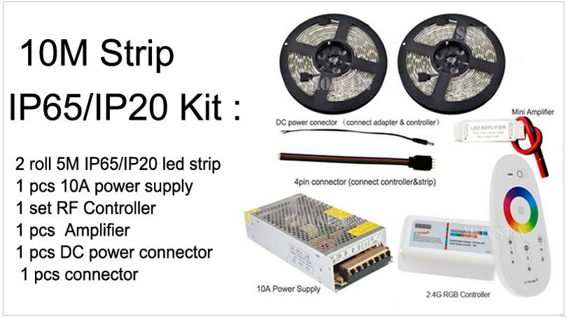 LED Strip 10m 20m 25m 30m RGB RGBW RGBWW Set 5050 LED Tape Light Touch remote
