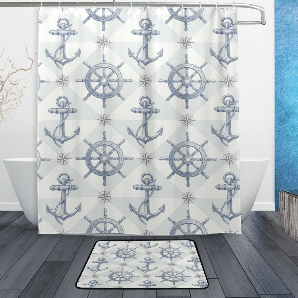 Garden Curtains Nautical Anchor Beach Ocean Starfish