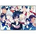 Yuri no Gelo Anime Art Filme Silk Impressão Cartaz 30x45 cm 50x75 cm 60x90 cm Fotos para Decoração Da Parede Quarto Decoração DM1183