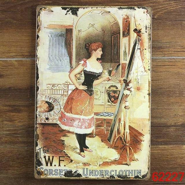Olhar no espelho pintura poster retro da lata do Metal do vintage assina a arte Da Parede decoração house Cafe Bar criança 20*30 CM