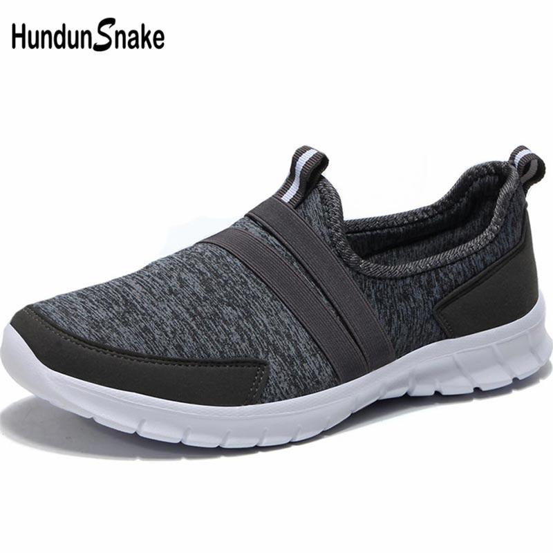 Hundunsnake Slip-On Men Shoes Sneakers Women Krasovki Men 2019 Men's Sports Shoes Sport Mens Running Shoe Summer Gray Walk B-042