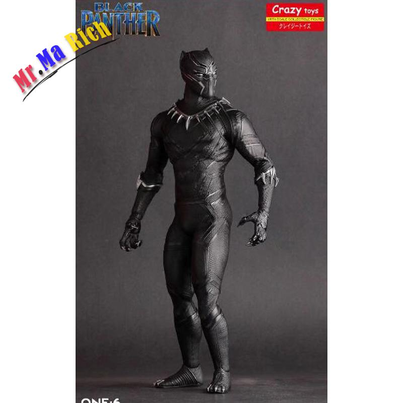 26Cm Pazzo Giocattoli Pantera Nera Figura Guerra Civile Avengers Ant-man Black Panther Movable Action Figures Pvc Doll 26cm crazy toys black panther figure civil war avengers ant man black panther pvc action figures toys doll brinquedos