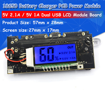 Dual USB 5V 1A 2.1A Mobile Power Bank 18650 Battery Charger PCB Power Module Accessories For Phone DIY New LED LCD Module Board