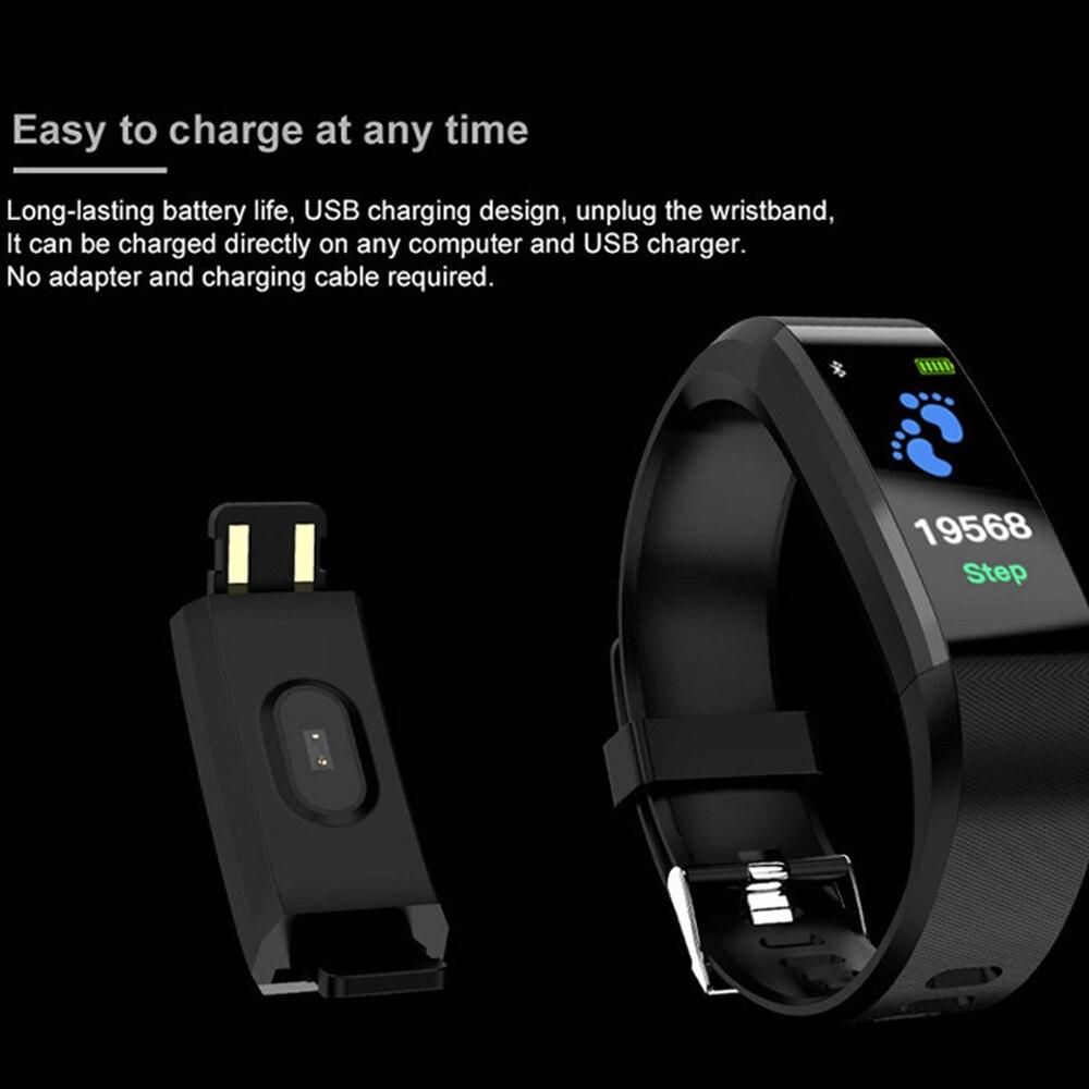 Smart Wristband Health Monitor Heart Rate/Blood Pressure/Pedometer Waterproof Sports Bracelet For Men Women Watch Inteligente