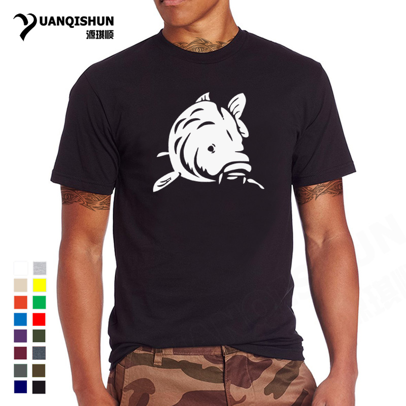2018 Summer New Fashion Fishings Carp   T  -  Shirt   Men Funny Print Top Tee High Quality Cotton   T     Shirts   Brand Clothing Unisex Tshirt