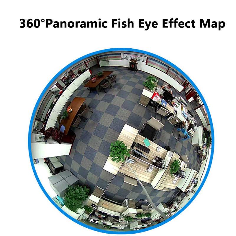 لمبة مصباح واي فاي كاميرا IP 960P أمن الوطن كاميرا لا سلكية عين السمكة البانورامية دعم 128GB 360 درجة للرؤية الليلية