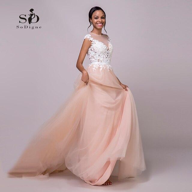 b61cc87a653f SoDigne Wedding dress 2018 Lace Appliques New Arrival Cap-sleeves Romantic  Dresses Bridal Gown Nude Back Vestido De Novia Playa