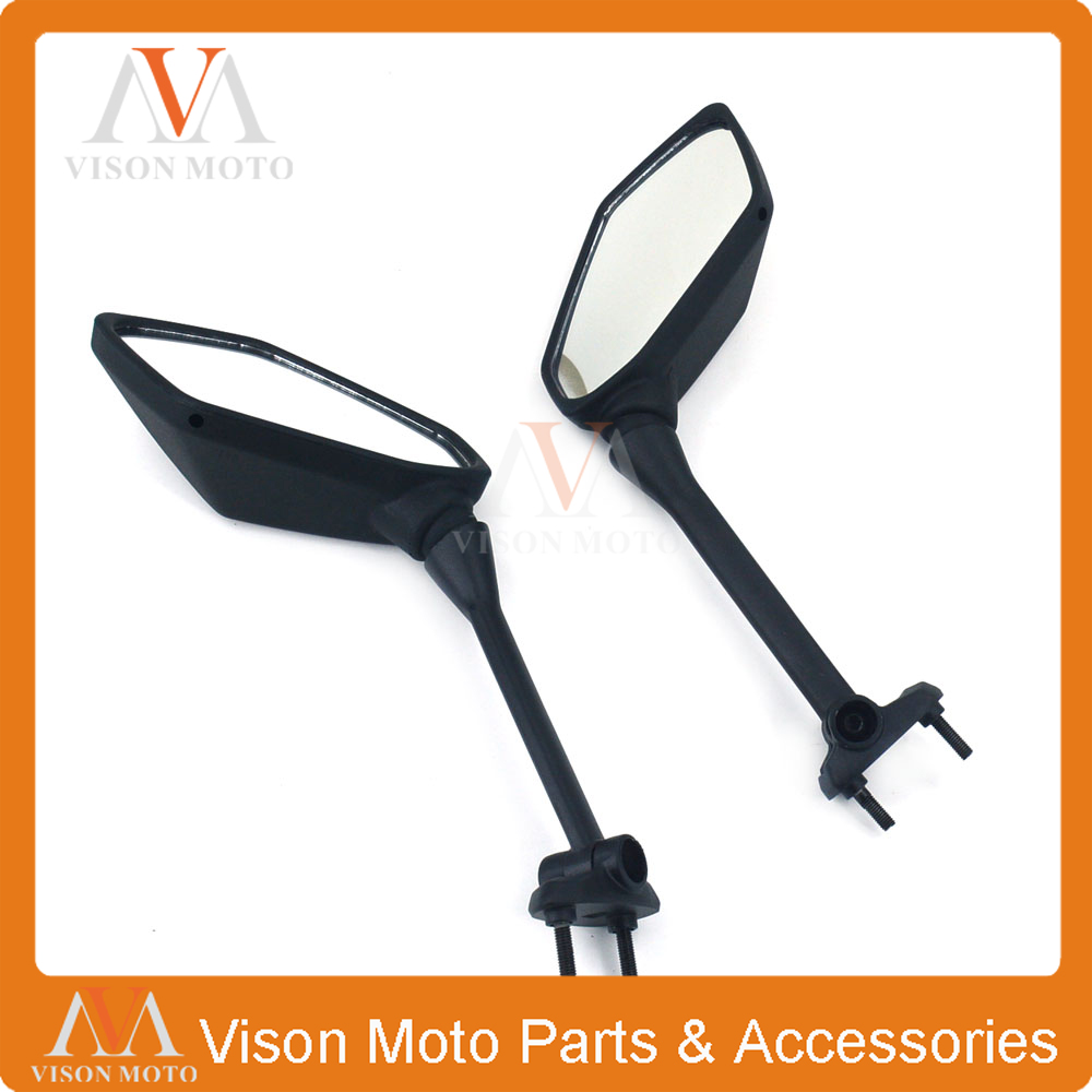 Motorcycle Side Mirror Rearview Rear View For KAWASAKI NINJA 650R 2009 2010 2011 2012 2013 2014 15 400R Z1000SX ER6F ER-6F 09-12 left brand new outer side rearview mirror cover housing shell for ford fiesta 2009 2010 2011 2012 2013 2014