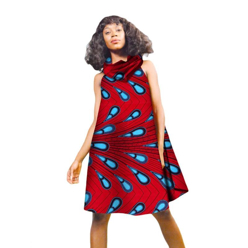 African Dresses For Women Fashion Knee Length Batik