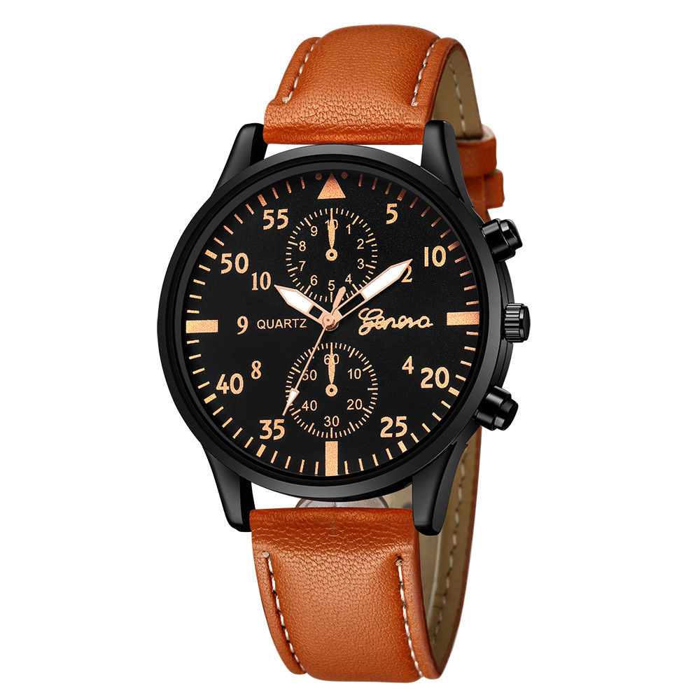 woman watch 2018 Fashion Men's Leather Military Alloy Analog Quartz Wrist Watch Business Watches Reloj femenino Dial Clock