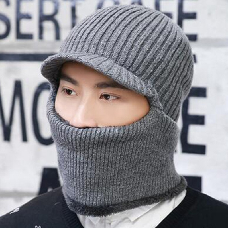 2019 Winter Knitted Hat   Beanie   Men Scarf   Skullies     Beanies   Winter Hats For Women Men Caps Gorras Bonnet Mask Brand Hats
