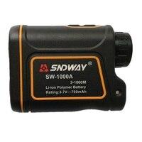 SNDWAY SW 1000A 1000M Laser Range Finder Scope Meter Speed Measurer Monocular Rangefinder 6X Distance Outdoor Sports Monocular