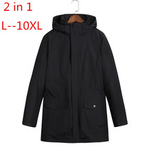 Plus size 10XL 8XL 6XL Waterproof Winter Jacket Men Warm 2 i