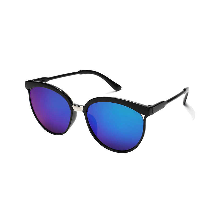 แว่นตากันแดดผู้หญิง 2019 รอบโลหะครึ่งกรอบแว่นตากันแดดผู้หญิง Classic Designer แว่นตากันแดด Anti-Reflective ขับรถสวมใส่