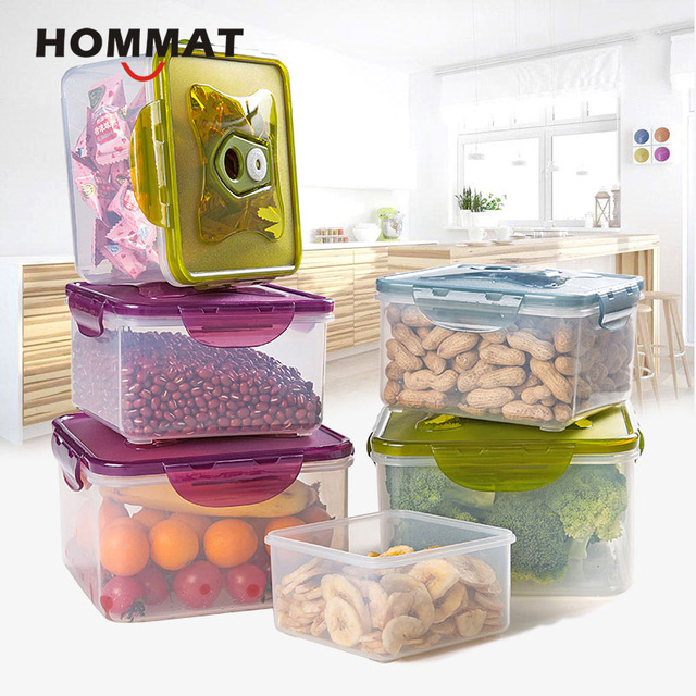 set of 3 pcs plastic kitchen storage boxes lunch boxs airtight seal food storage container fruit set of 3 pcs plastic kitchen storage boxes lunch boxs airtight      rh   aliexpress com
