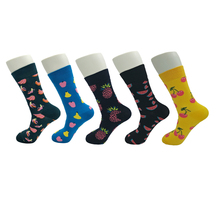 Men Women Happy Socks Cherry  Banana Watermelon Pear Pineapple Casual Socks  For All Seasons HSAG3 sewing for all seasons