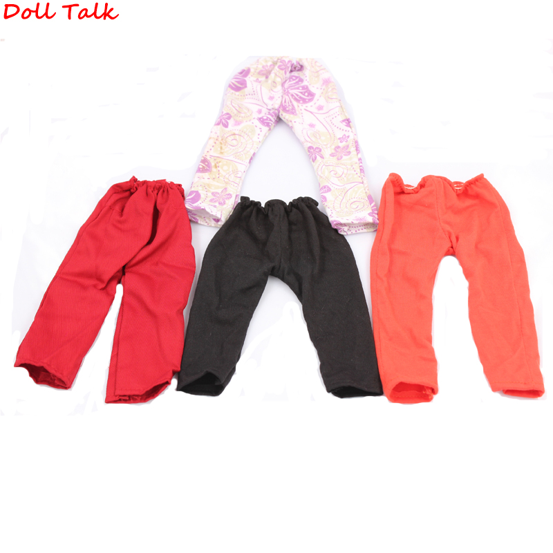 Doll Talk 1 PCS Fashion Doll Leggings Pants Fits 18 Inch 43-45cm Dolls Elastic Rope Solid Color Doll Pants Toy Accessories