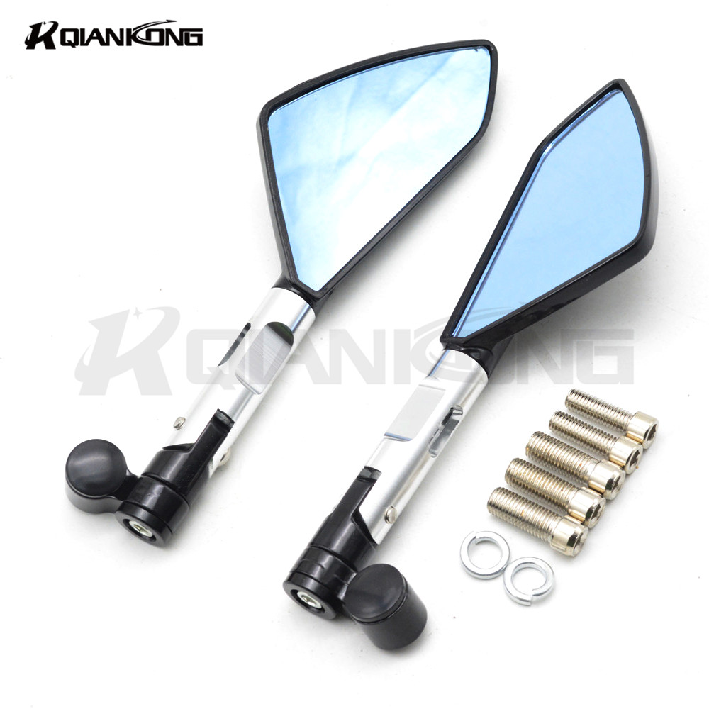 New Arrival Pair Motorcycle Rear View Mirrors Universal Chrome Oval Side Mirrors For Yamaha tmax 530 tmax 500