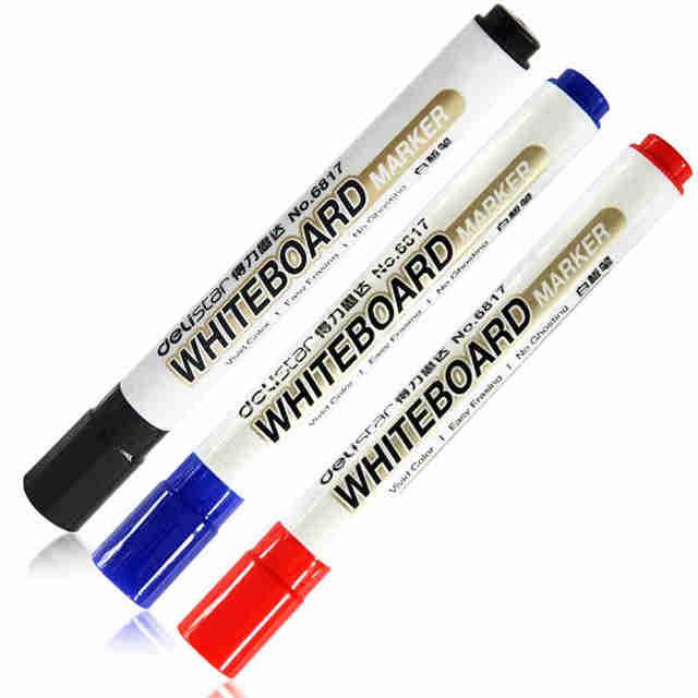 1 Set 10 Pcs Whiteboard Marker White Board Marker Black Dry Erase Eraser Markers Pen Pens Smooth Writing Blue Black And Red