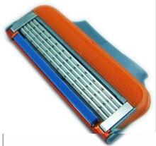 Venta caliente mejor calidad F-power versión original 4 UNIDS/LOTE hombres máquina de afeitar de afeitar Impermeable para de Cinco capas de afeitar envío libre de la hoja