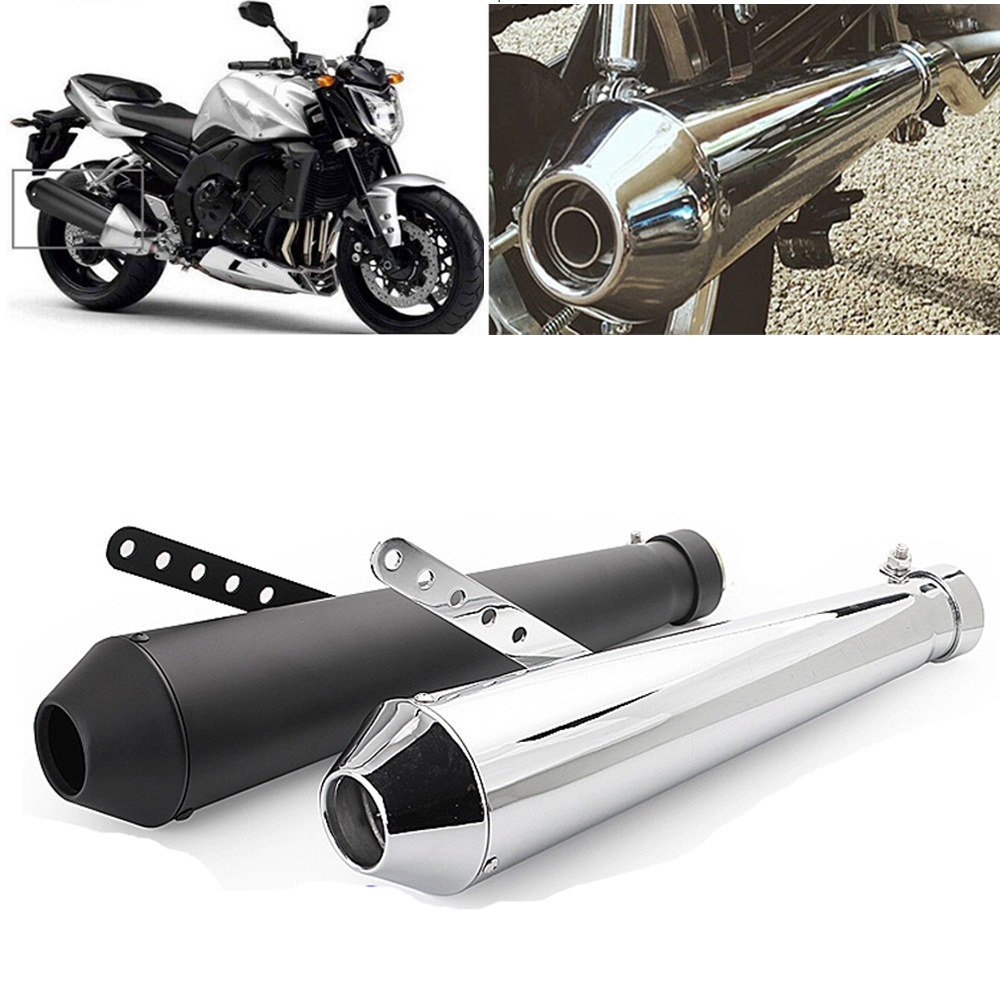 Motorbike Muffler Silencer Link System,Stainless Steel Low Mount Link Pipe Motorcycle Exhaust Tail Pipe for Honda CG EN125 XL883 1200