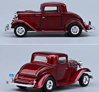High simulation 1932 Ford coupe model car,1:24 Advanced alloy toy car ,4 open the door retro collection model,free shipping