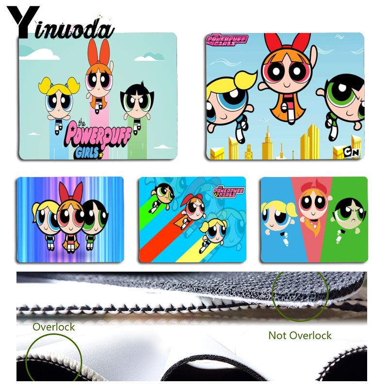 Yinuoda  The Powerpuff Girls Laptop Gaming Mice Mousepad Size For 180x220x2mm And 250x290x2mm Small Mousepad