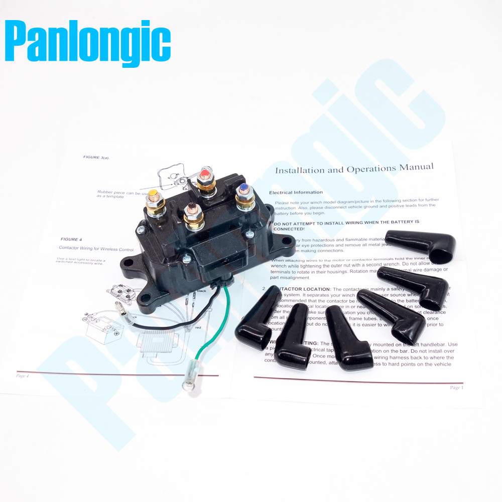 hight resolution of 12v 200a electric winch solenoid relay rocker switch with caps for atv utv truck black metal universal kit in relays from home improvement on aliexpress com
