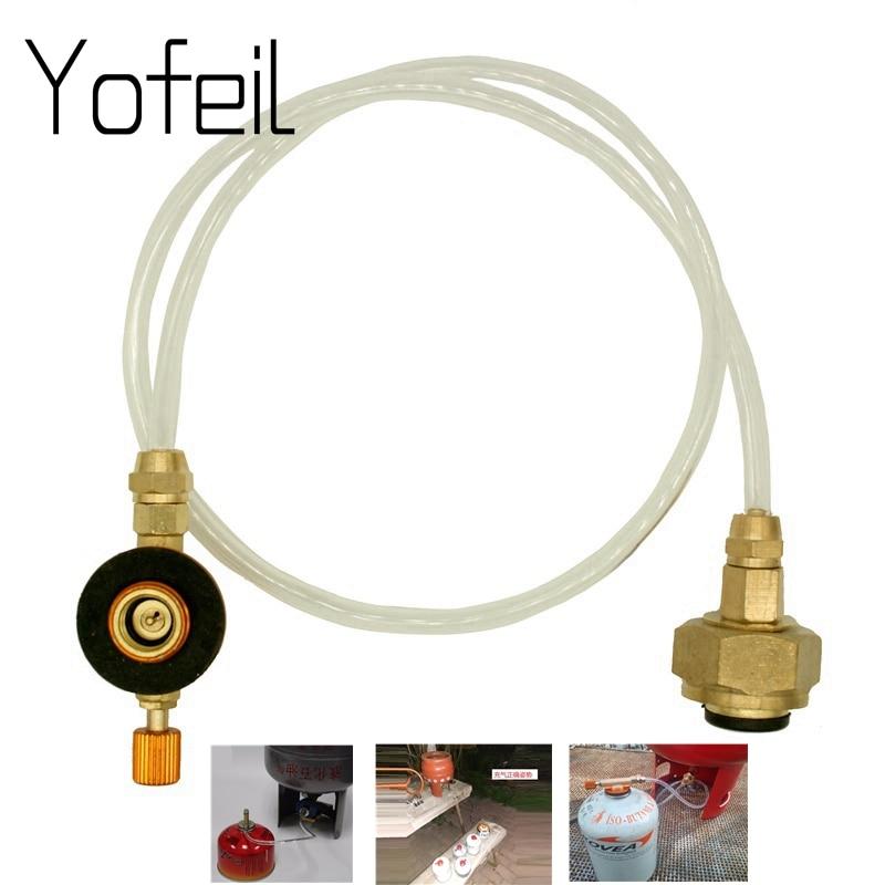 Outdoor Camping Gasherd Propan Refill Adapter Gas Flache Zylinder Tank Koppler Adapter Gas Lade Zubehör