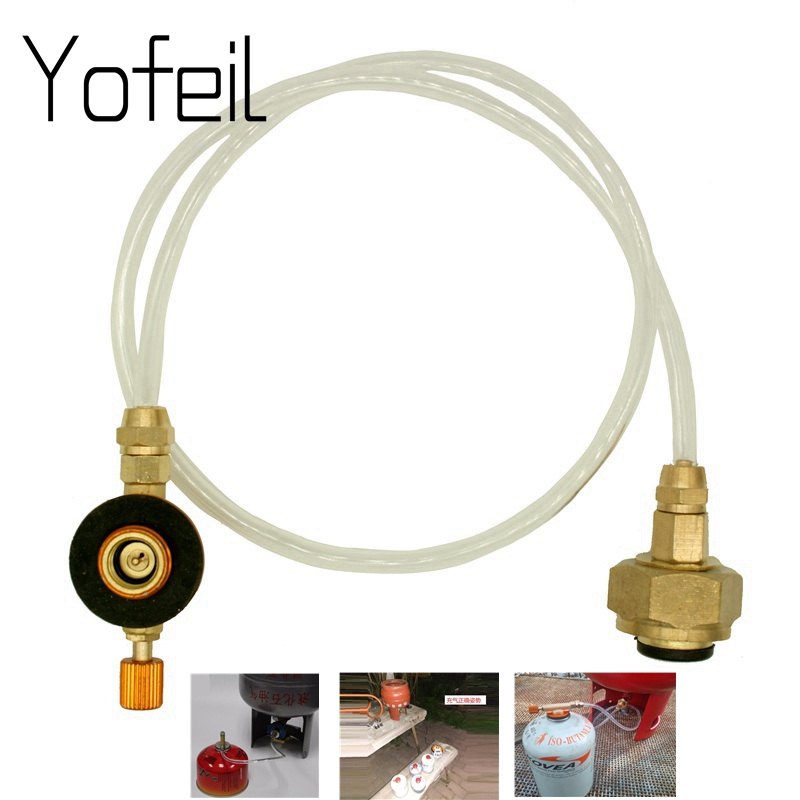 Outdoor Propane Refill Adapter Gas Stove Transfer with 12 inch Hose Pipe