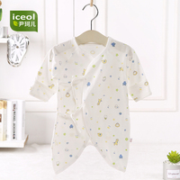 Mother New Brand Baby Romper Short Sleeves Cotton Baby V-neck Cartoon Printed Newborn 2017 Baby Girls Boys Clothes