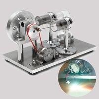 Hot Air Stirling Engine Model Electricity Power Generator Motor Kit Toy Gift Intelligence Children Adult