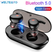 Bluetooth 5.0 Earphone Wireless TWS Earbuds Stereo Mini Headset Touch Control Wireless Headphone Bluetooth With Charging Case(China)