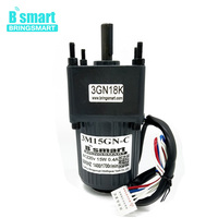 Bringsmart 15W AC Gear Motor 220V Single Phase Induction Motor Low Speed Motor With Speed Controller