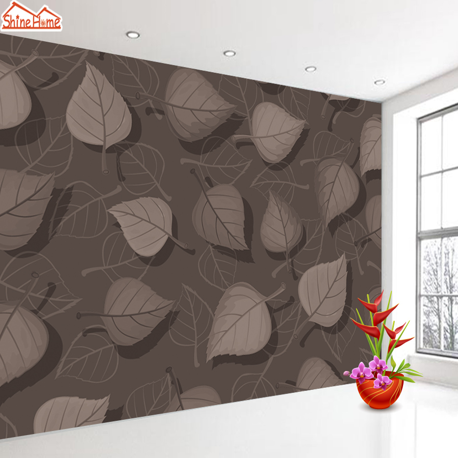 8d Silk 3d Photo Wallpapers Wall Mural Paper Contact Papers Home Decor For Walls In Rolls Wallpaper For Living Room Girl Leaf